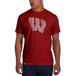 '47 Men's NCAA   Wisconsin Badgers Basic Scrum T-Shirt, Smal