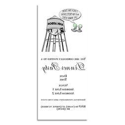 CafePress - Anti Michigan Aliens - Invitations Matte