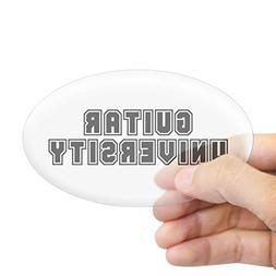 CafePress - University Oval Sticker - Oval Bumper Sticker, E