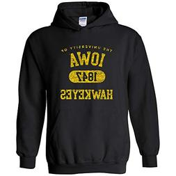 AH20 - Iowa Hawkeyes Athletic Arch Hoodie – 3X-Large