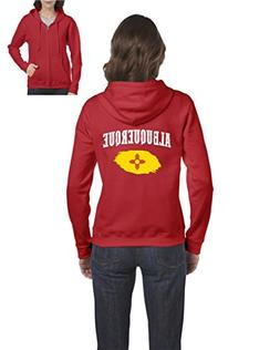 Albuquerque New Mexico Flag Traveler`s Gift Womens Sweaters