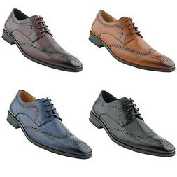 Amali Mens Perforated Wingtip Oxford Dress Shoes Classic Lac