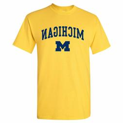 Arch Logo University of Michigan Wolverines Licensed Mens T-