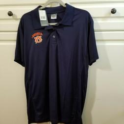 Auburn University Mens L Navy Dri-fit Polo Embroidered Knigh