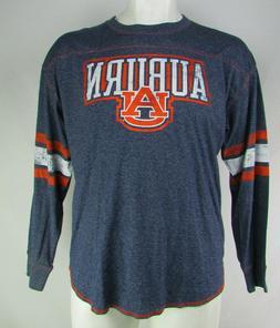 Auburn University NCAA Knights Apparel Men's Grey Long Sleev