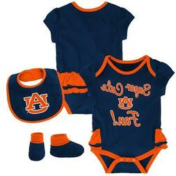 Auburn University Tigers Creeper, Bib and Bootie Set Infant