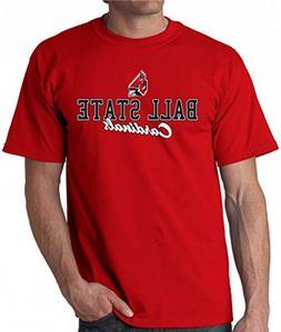 J2 Sport Ball State Cardinals NCAA Campus Script Unisex T-sh