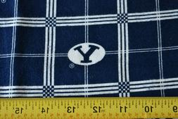 By 1/2 Yd, Brigham Young University Cougars Flannel Quilt Fa