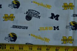 By 1/2 Yd, Maize & Blue,University of Michigan / U of M Quil