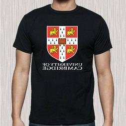 Cambridge University Famous College Logo Men's Black T-Shirt