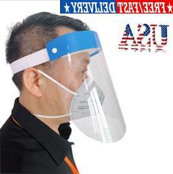 Clear Transparent Adjustable Full Face Shield Plastic Anti-f