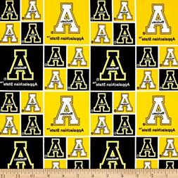 collegiate cotton broadcloth appalachian state fabric by