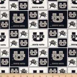 Sykel Enterprises Collegiate Cotton Broadcloth Utah State Un