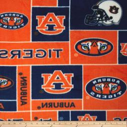 Collegiate Fleece Auburn University Fabric By The Yard