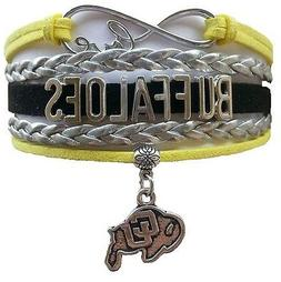 Colorado University Buffaloes College Infinity Bracelet Jewe