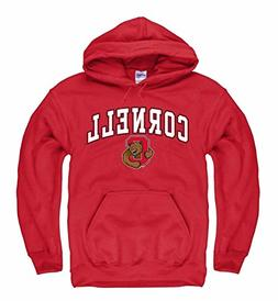Campus Colors Cornell Big Red Arch & Logo Gameday Hooded Swe