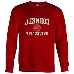 Ivysport Cornell University Crewneck Sweatshirt, Crest, Red,