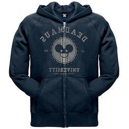 Old Glory Deadmau5 - Mens University Zip Hoodie X-Large Blac