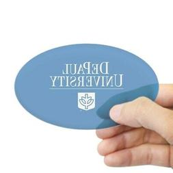 CafePress Depaul University Oval Bumper Sticker, Euro Oval C