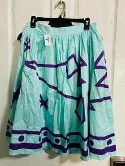 Disney Dress Shop Mad Tea Party Blue Tea Cup Skirt LARGE Her