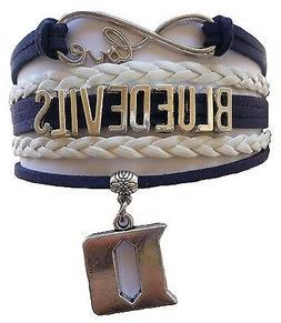 Duke University Blue Devils College Infinity Bracelet Jewelr