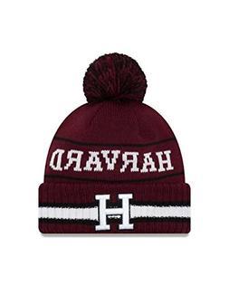 Era Harvard Crimson College Vintage Select Knit Pom Beanie -