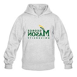 George Mason University VAVD Mens 100% Cotton Hoodies Ash Si