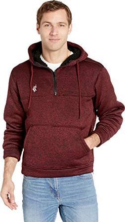 U.S. Polo Assn. Men's Half Zip Pullover Hoodie, University r