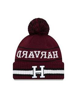 New Era Harvard Crimson College Vintage Select Knit Pom Bean