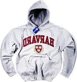Harvard Hoodie Sweatshirt Gray Crimson Crew NCAA University