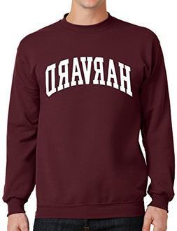 Harvard Sweatshirt University Crewneck Sweat Shirt Crimson S
