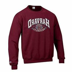 Champion Harvard University, Crimson Crewneck Sweatshirt, Ma