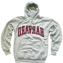 Harvard University Hoodie Sweatshirt Arched Block Grey - S