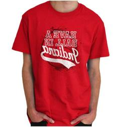 Have A Ball In Indiana University State Pride Short Sleeve T