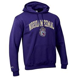 Elite Fan Shop James Madison Dukes Hooded Sweatshirt Varsity