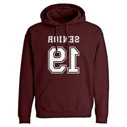 hoodie senior 2019 medium maroon hooded sweatshirt