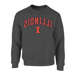 Elite Fan Shop Illinois Fighting Illini Crewneck Sweatshirt