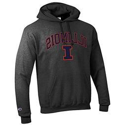 Elite Fan Shop Illinois Fighting Illini Hooded Sweatshirt Va