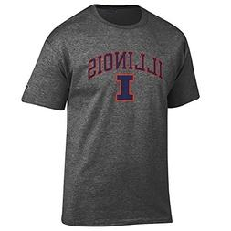 Elite Fan Shop Illinois Fighting Illini Tshirt Varsity Charc