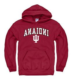 Campus Colors Indiana Hoosiers Adult Arch and Logo Hooded Sw
