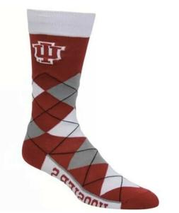 Indiana Hoosiers NCAA For Bare Feet Argyle Crew Socks