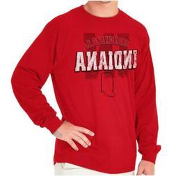 Indiana Student University Football College Long Sleeve Tees