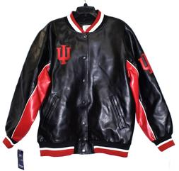 INDIANA UNIVERSITY HOOSIERS Knights Apparel Faux Leather Jac