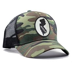 Homeland Tees Men's New Jersey Home State Army Camo Trucker