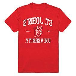 St. John's University Red Storm NCAA Seal Tee T-Shirt Red XX