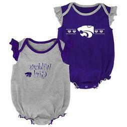Kansas State University Creeper 2 Pack Homecoming Bodysuit S