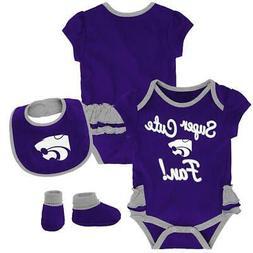 Kansas State University Creeper, Bib and Bootie Set Infant S