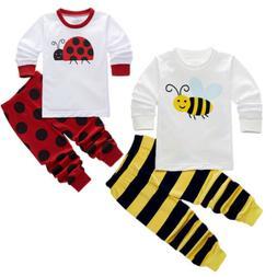 Kids Boy's Girl's Clothes Short Sleeve T-shirt Sleepwear Paj