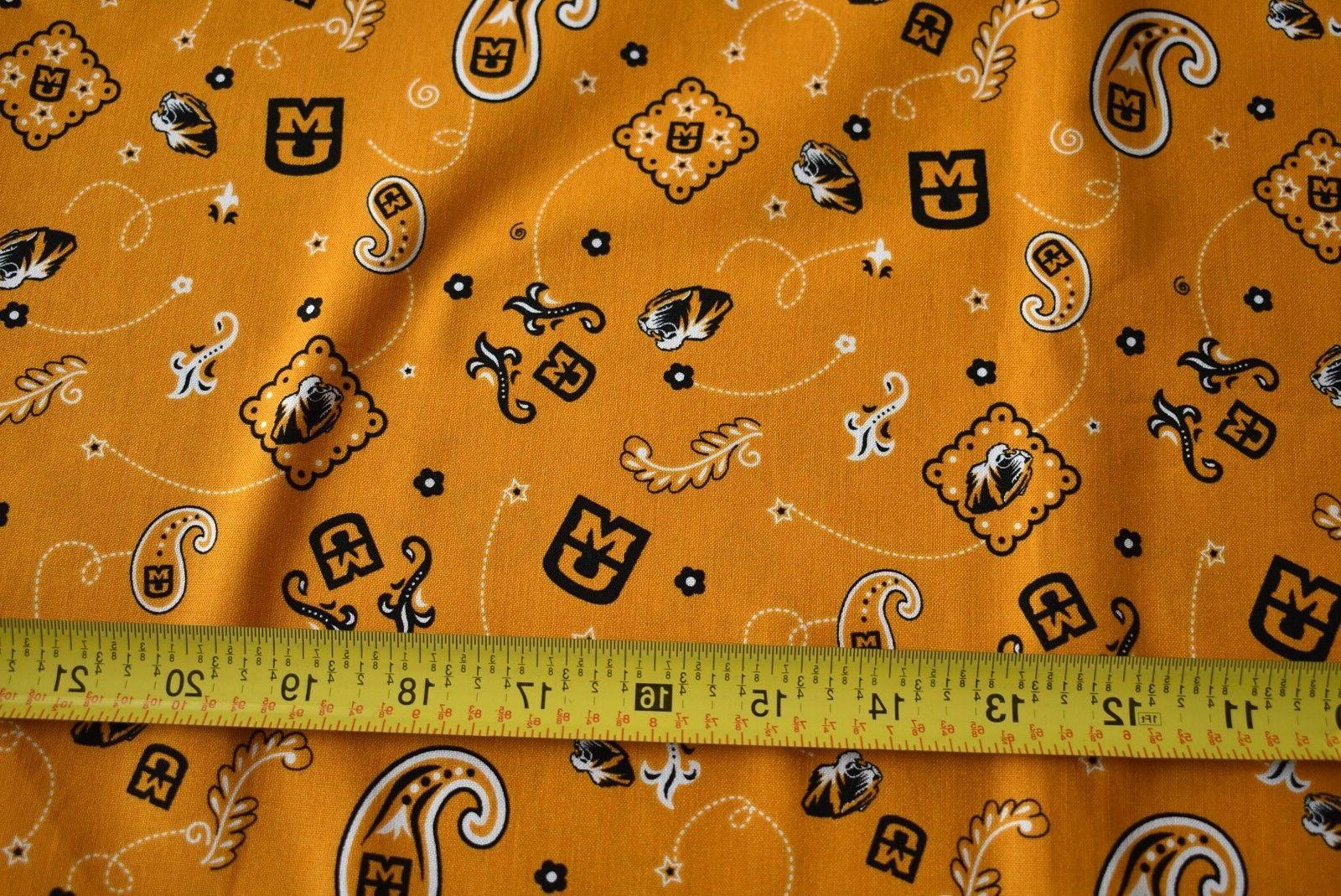 "26"" Long, Missouri Tigers Fabric, N1901"