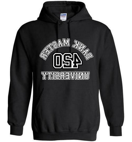 420 university hoodie cannabis fashion marijuana shirt